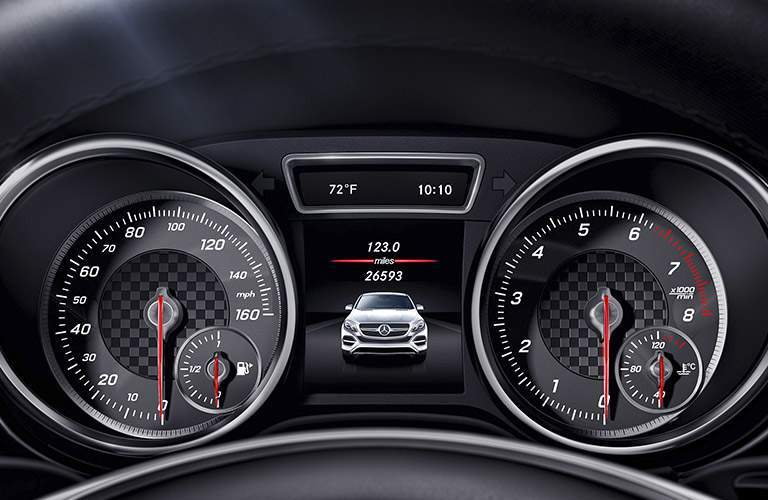 2017 Mercedes-Benz GLE Coupe SUV front interior instrument cluster