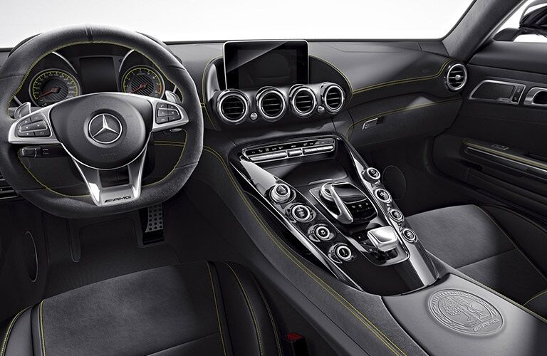 Steering wheel and dashboard of 2017 Mercedes-Benz AMG® GT