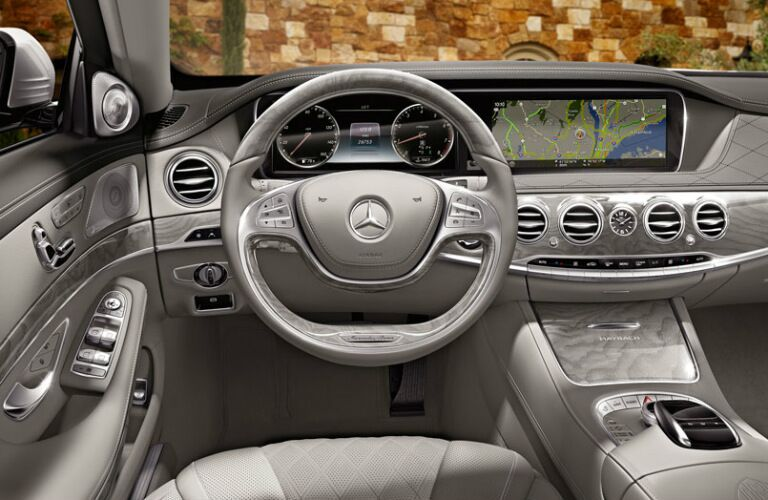 Dashboard and infotainment system in 2017 Mercedes-Benz Maybach