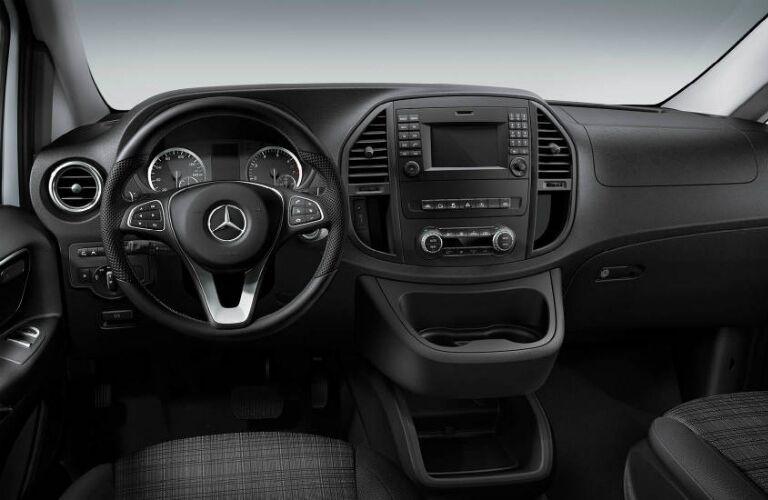 Steering wheel and dashboard of 2017 Mercedes-Benz Metris Cargo Van