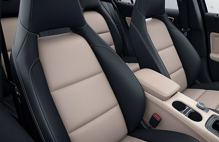 Interior seating of the 2018 Mercedes-Benz GLA