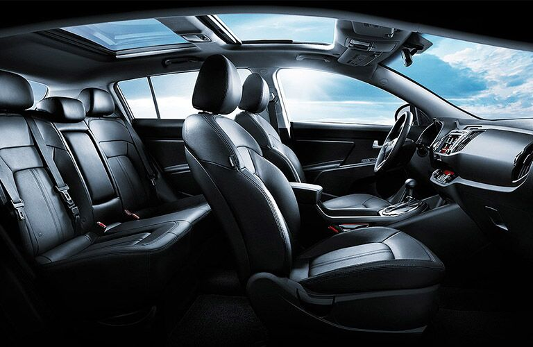 2016 Kia Sportage black leather interior