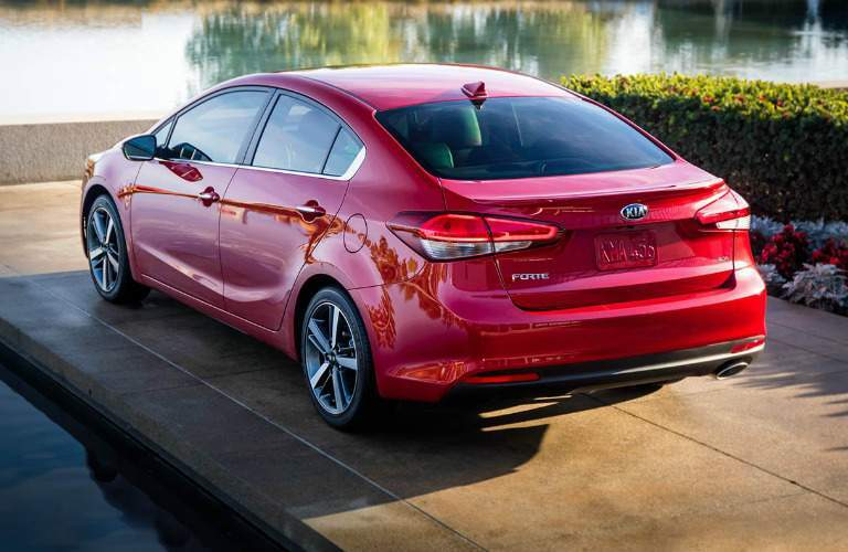 red 2018 Kia Forte parked in a driveway