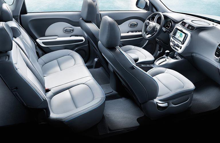 Interior seating in the 2018 Kia Soul EV
