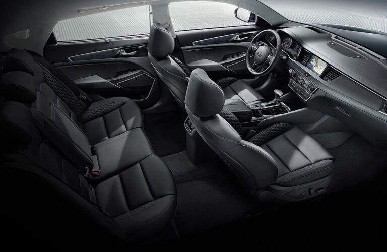 Overhead view of 2019 Kia Cadenza interior