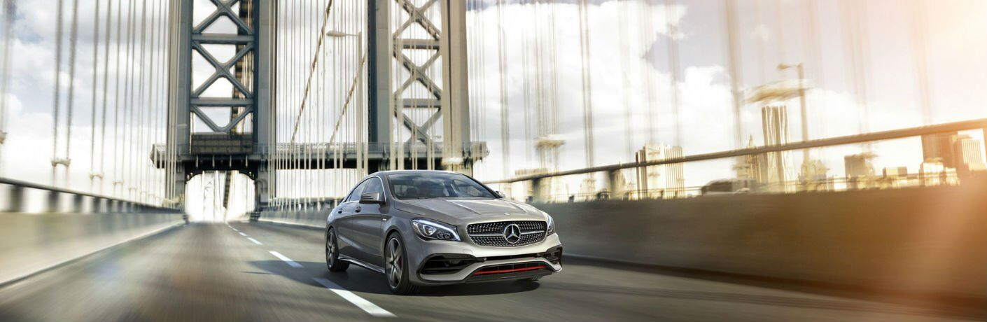 2017 CLA Coupe Driving over Bridge
