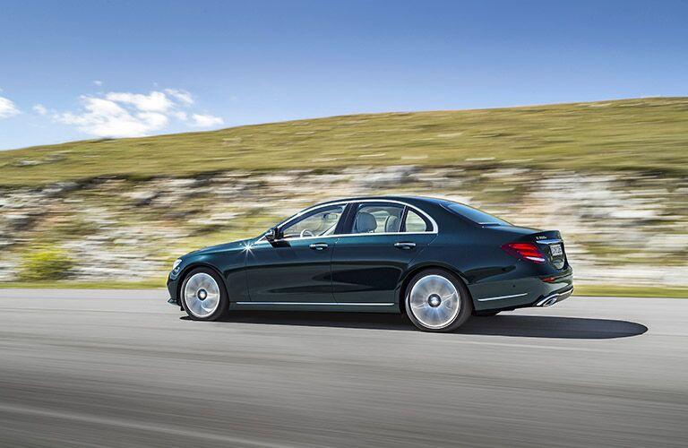 black 2017 Mercedes-Benz E-Class side profile
