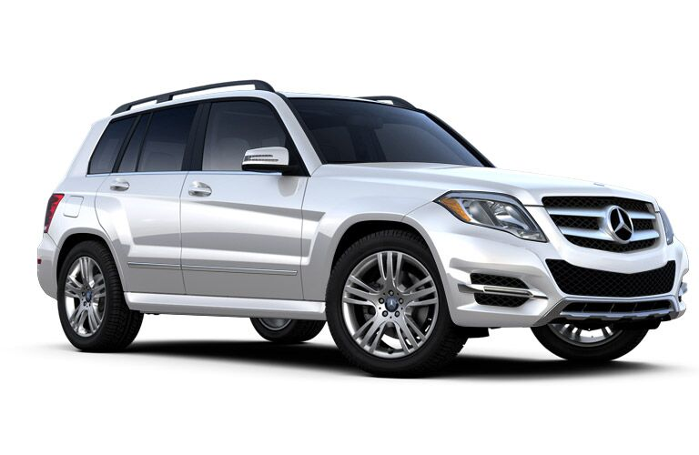 white 2014 Mercedes-Benz GLK on a white background