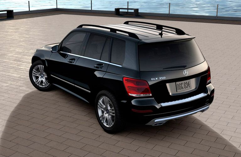 rear and overhead view of the Mercedes-Benz GLK