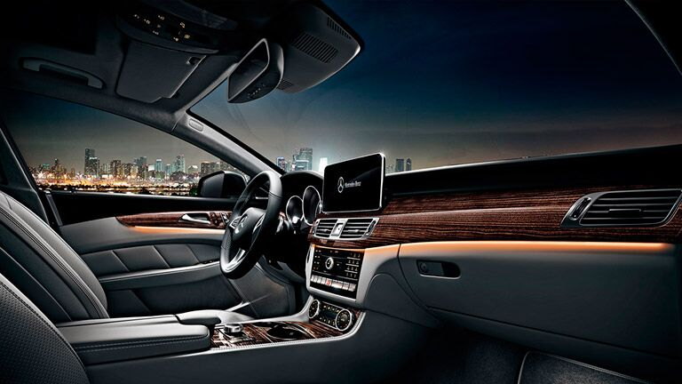 new of the driver's cockpit in the 2016 Mercedes-Benz CLS