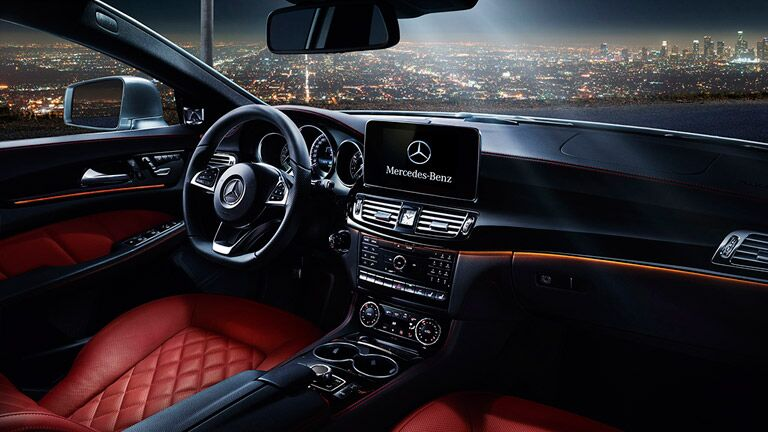 steering wheel and dashboard of the 2016 Mercedes-Benz CLS