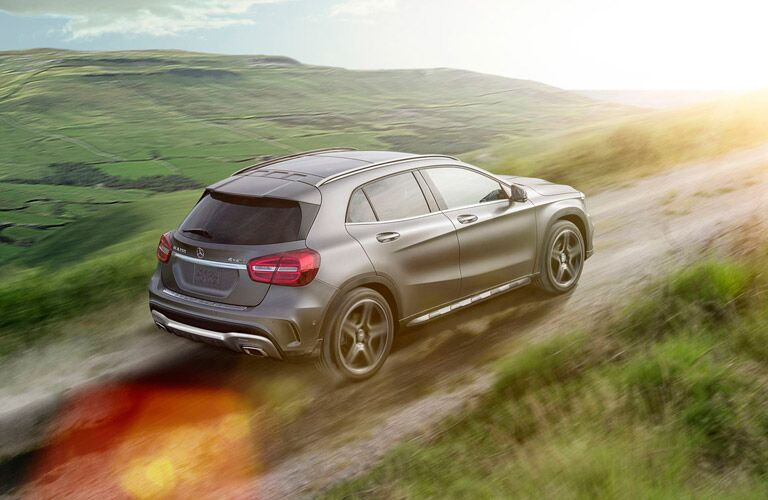 2016 Mercedes-Benz GLA driving through the countryside