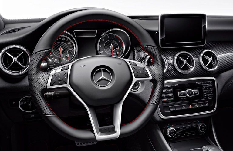 steering wheel of the 2016 Mercedes-Benz GLA
