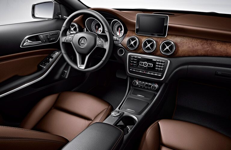luxurious interior of the 2016 Mercedes-Benz GLA