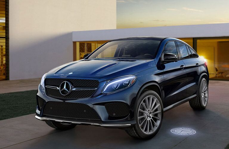 2016 Mercedes-Benz GLE Coupe parked outside of a house