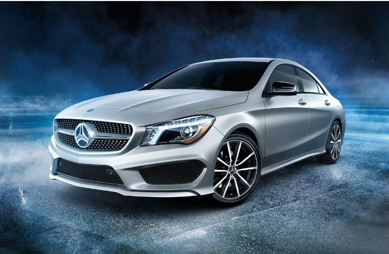 2016 Mercedes-Benz CLA surrounded by a dark background