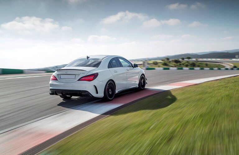 2017 Mercedes-Benz AMG CLA 45 on a track