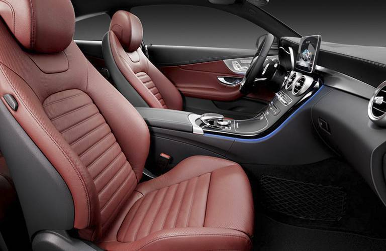 front seats of the 2017 Mercedes-Benz C-Class