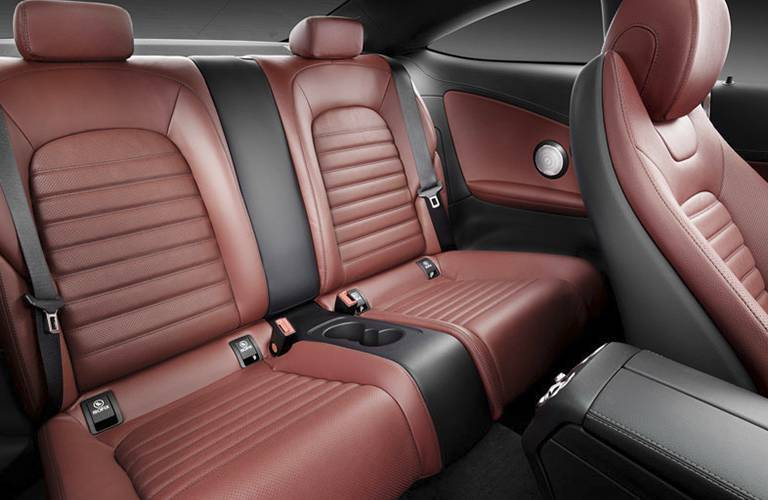 rear seats of the 2017 Mercedes-Benz C-Class