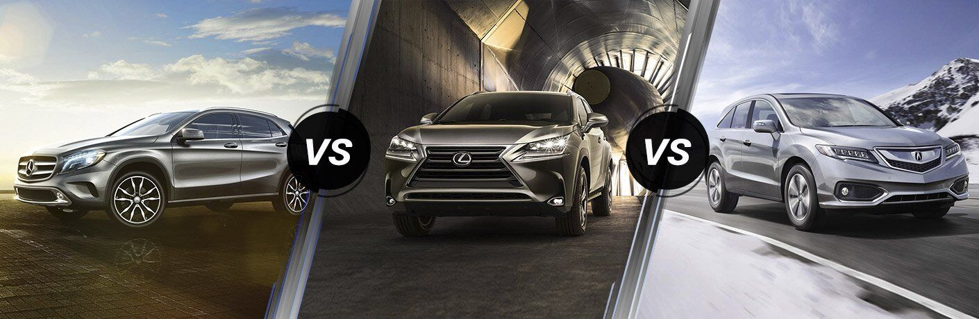 2017 Mercedes-Benz GLA vs Lexus NX vs Acura RDX