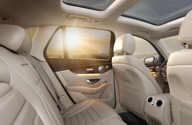 luxurious interior seating and sunroof of the 2017 Mercedes-Benz GLC