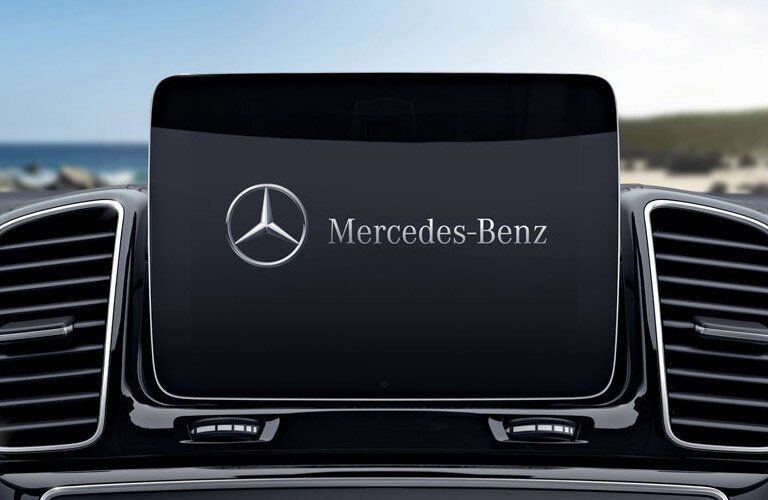 large central infotainment screen of the 2017 Mercedes-Benz GLS