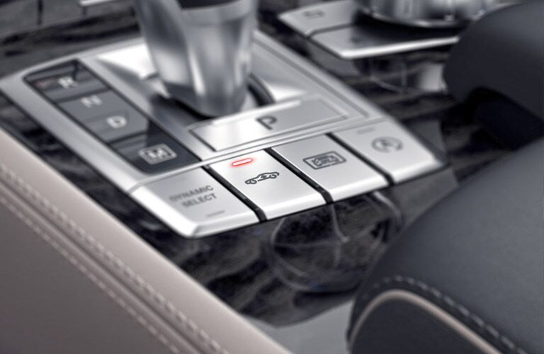 gear shift and mode selection on the 2017 Mercedes-Benz SL-Class