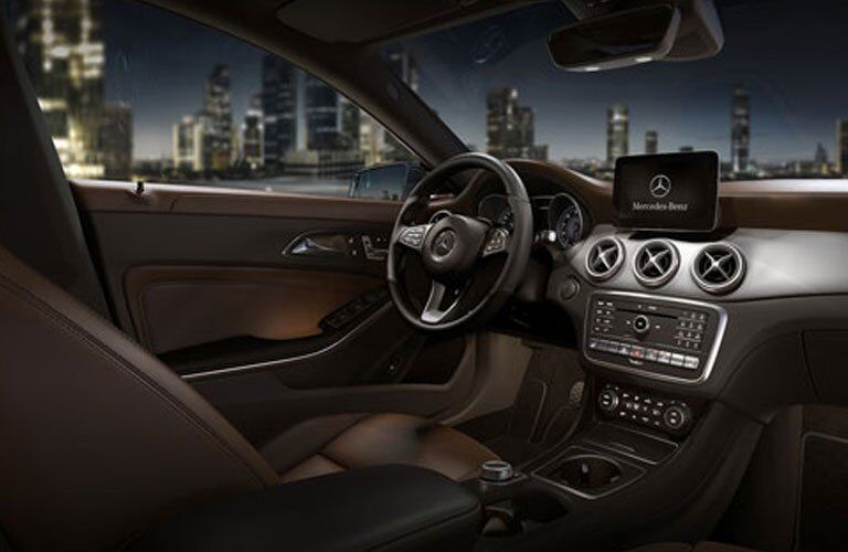 interior view of the 2018 Mercedes-Benz CLA