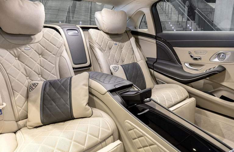 luxurious rear seats of the 2018 Mercedes-Benz S-Class