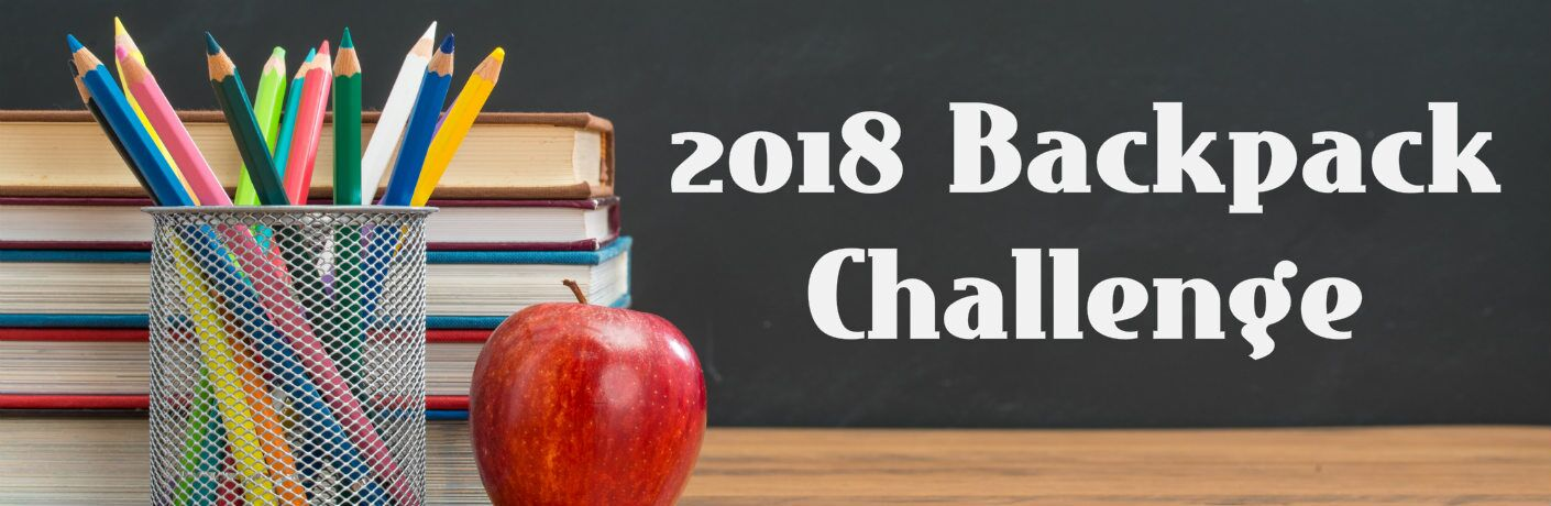 2018 Backpack Challenge with school supplies