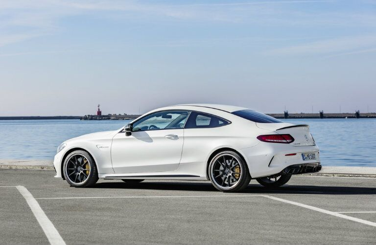 2019 Mercedes-AMG® C 63 in white from the side