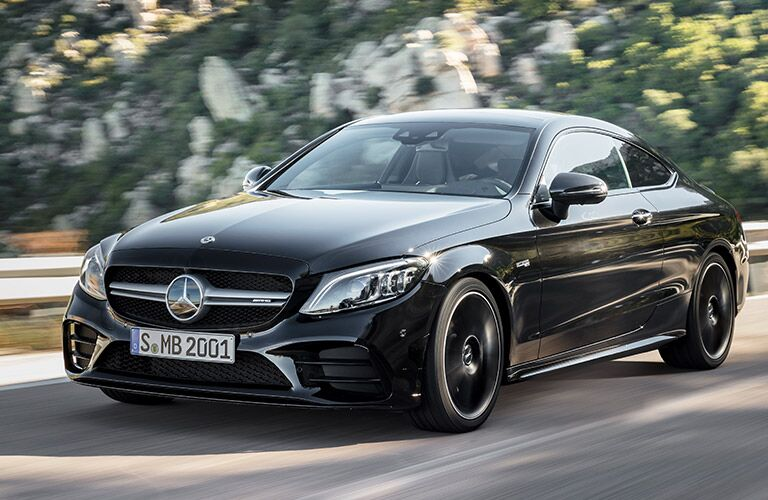 2019 Mercedes-AMG C 43 on the road