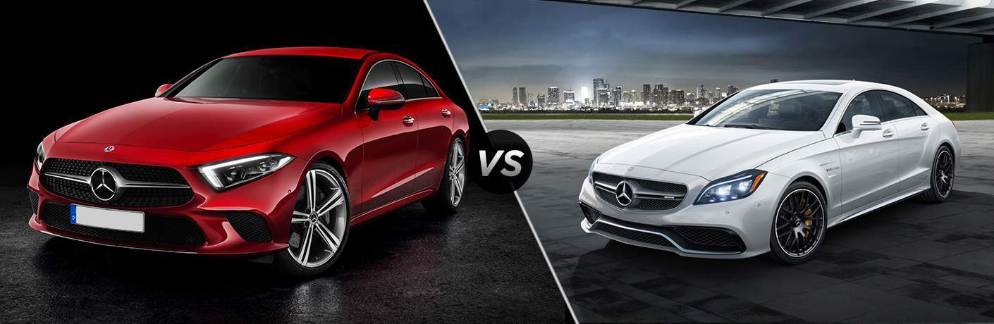 comparison image of the 2019 Mercedes-Benz CLS and 2018 Mercedes-Benz CLS