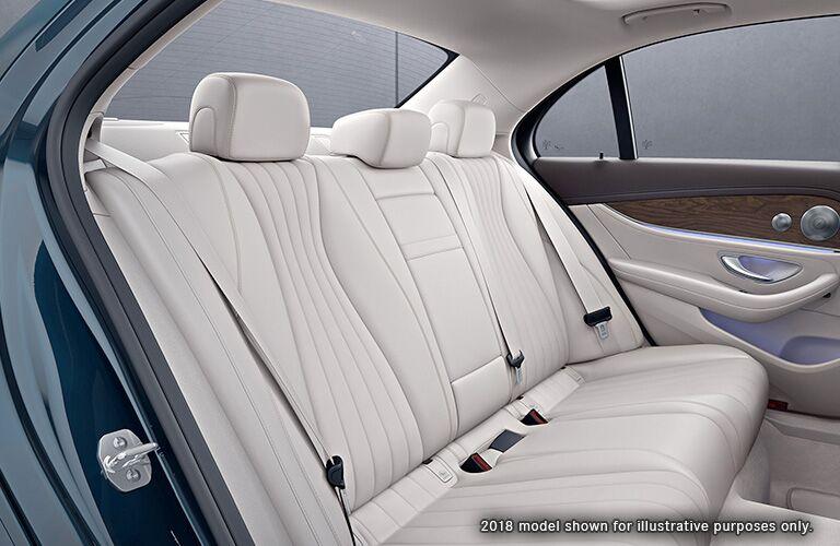 rear seats of the 2019 Mercedes-Benz E-Class