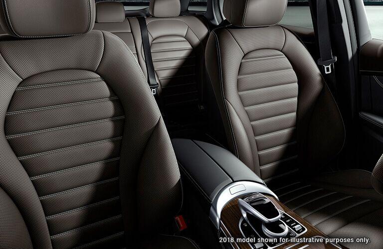 2019/2018 Mercedes-Benz GLC seats in brown