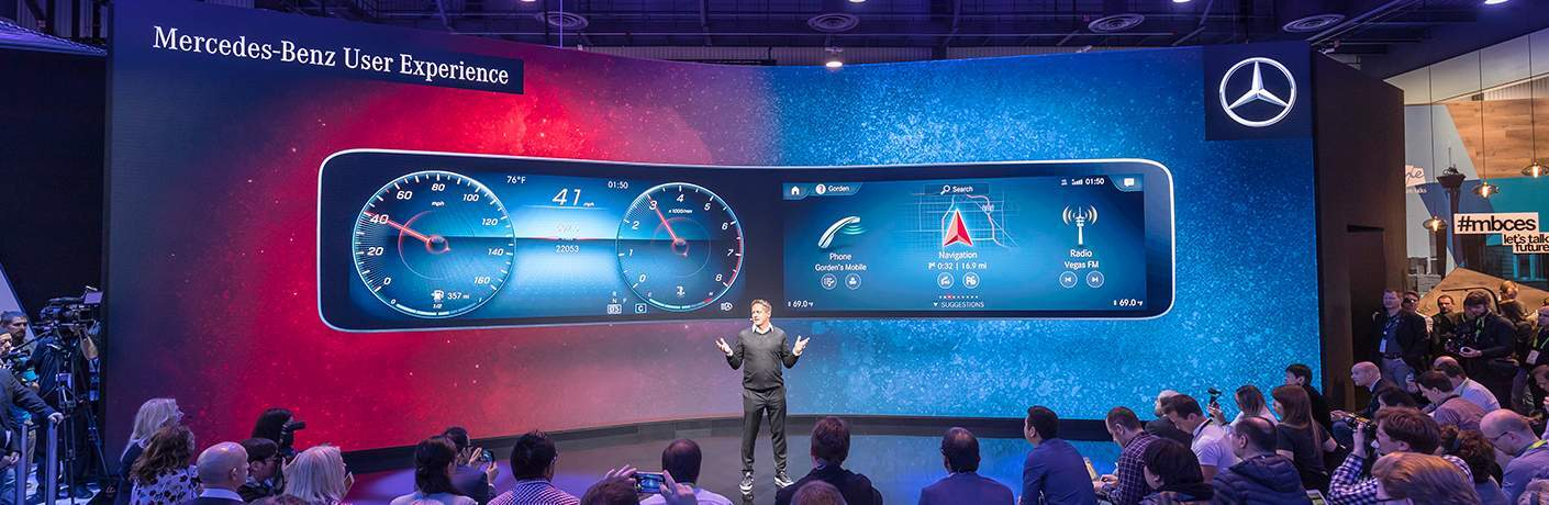Mercedes-Benz User Experience being presented at CES 2018