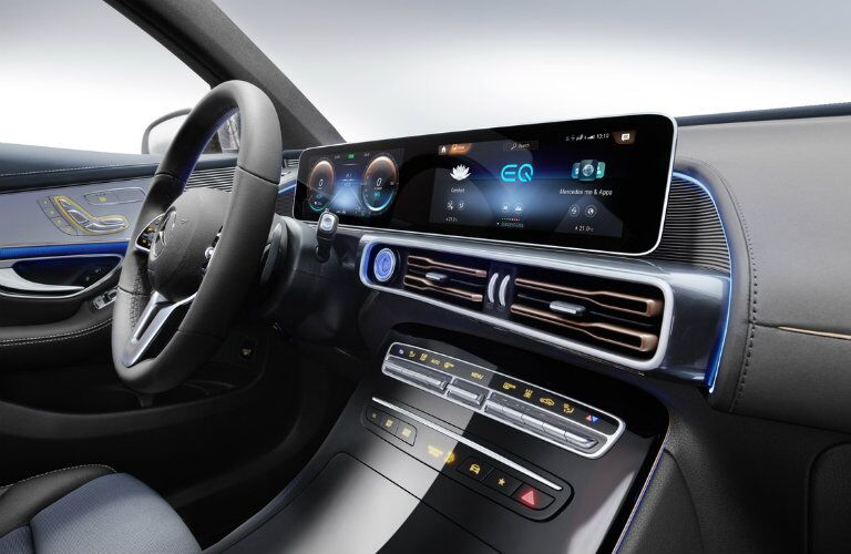 2020 Mercedes-Benz EQC dual screen dashboard