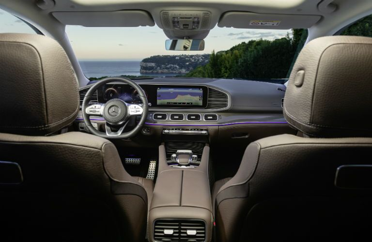 2020 Mercedes-Benz GLS interior from second row of seats