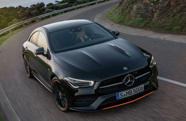 2020 mercedes-benz cla from front three-quarter image