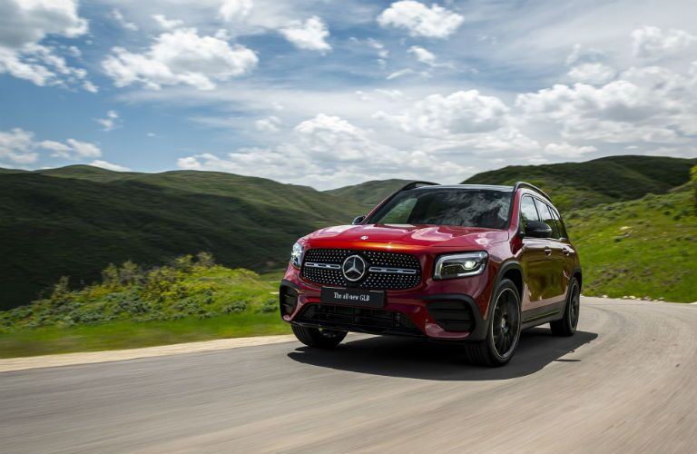 2020 Mercedes-Benz GLB driving in plains