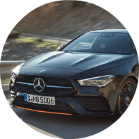 up close view of 2020 mercedes-benz cla