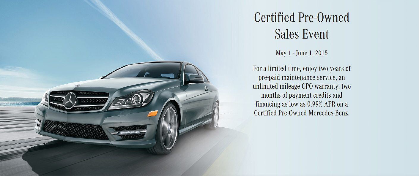 Mercedes benz certified pre owned event spring 2015 for Mercedes benz certified pre owned sales event