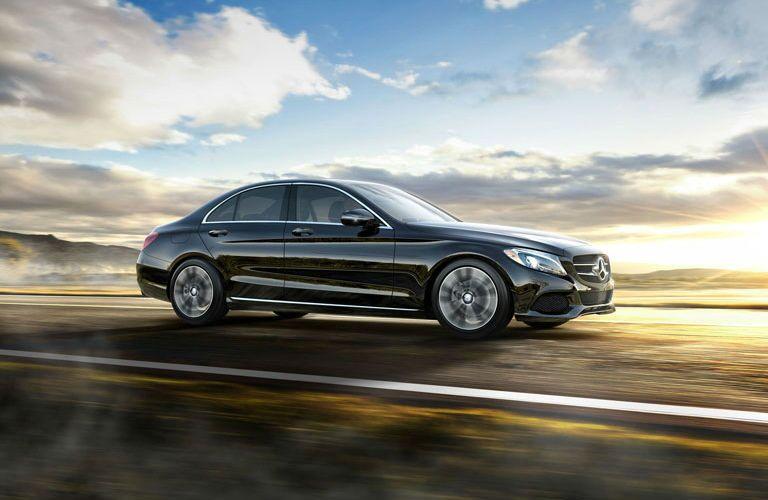 2016 Mercedes-Benz C-Class vs. 2016 BMW 3 Series side view