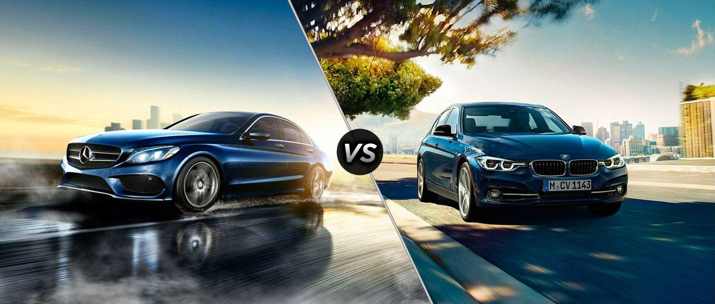 2016 Mercedes-Benz C-Class vs. 2016 BMW 3 Series front