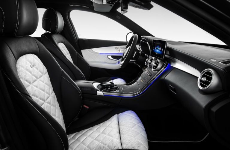 interior of 2019 mercedes-benz c-class from profile