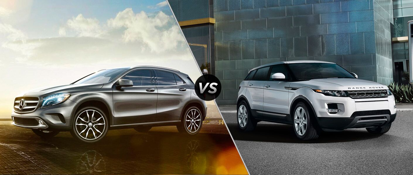 2015 Mercedes-Benz GLA vs 2015 Land Rover Range Rover Evoque