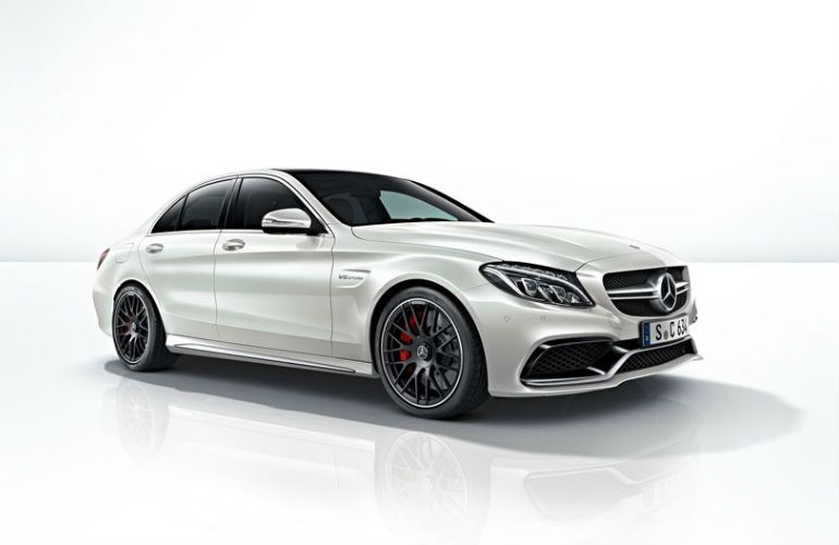 2015 Mercedes-AMG C63 White Side View
