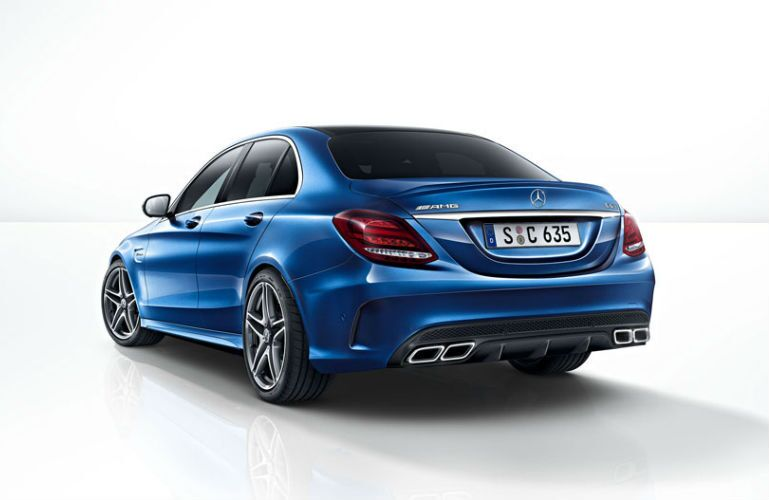 Blue 2015 Mercedes-AMG C63 Chicago IL Loeber Motors