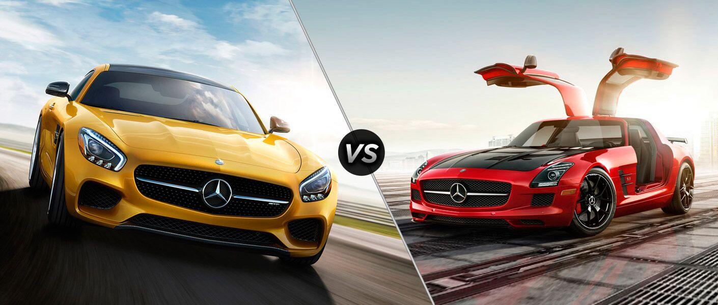 2016 Mercedes-AMG GT vs Mercedes-Benz SLS AMG