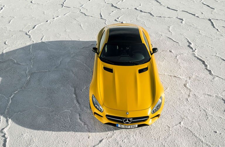 2016 Mercedes-AMG GT S Yellow Top View